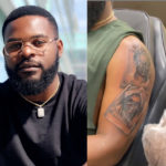 Falz Tattoos Entire Family On His Arm
