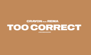 Crayon Rema Too Correct Lyric Breakdown