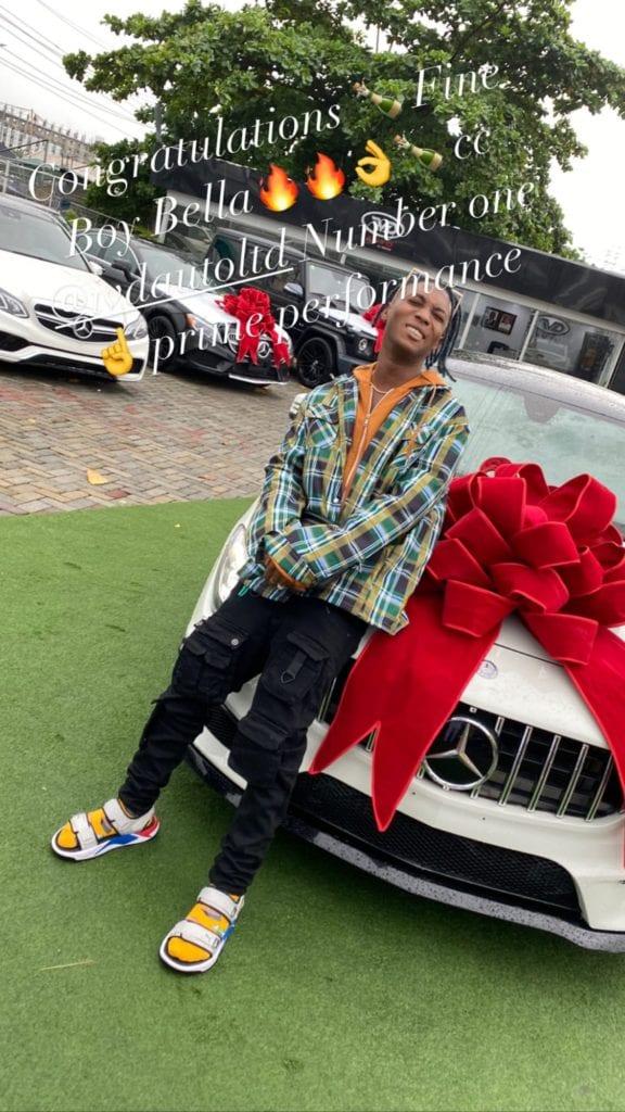 Bella Shmurda Buys His First Benz, Acquires The CLA 250 Worth Over 18 Million Naira #Arewapublisize