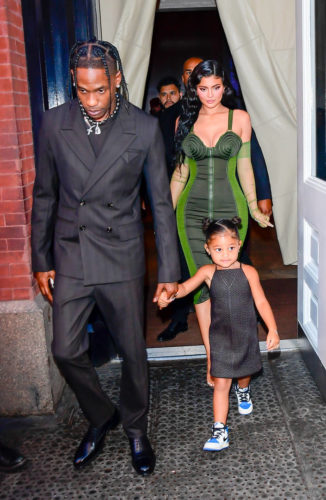 Travis Scott Poses With Kylie Jenner And Daughter, Stormi, Calls Her Wifey #Arewapublisize