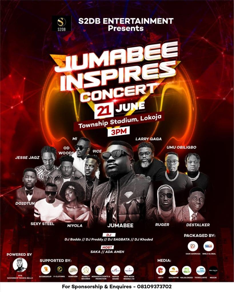 9ice, Ruger, Do2dtun, Umu Obiligbo, Destalker & More To Stage Jumabee Inspire Concert 2021 (Season 3.0) #Arewapublisize