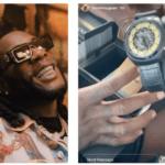 Burna Boy Shows Off His Grammy Watch Worth Millions of Naira