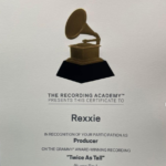 Rexxie Flaunts His Grammy Certificate