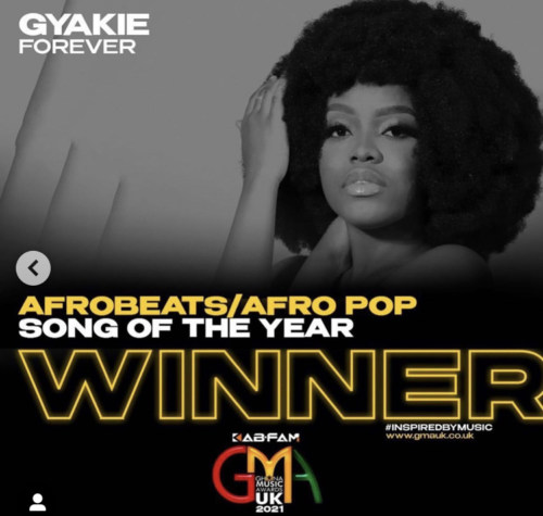 Ghana Music Award UK    Gyakie's 'Forever' Emerges Winner Afrobeats/Afropop Song Of The Year #Arewapublisize