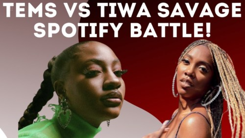 Tems Dethrones Tiwa Savage As Spotify's Most Streamed Female Afrobeats Artist With Over 60 Million Streams #Arewapublisize